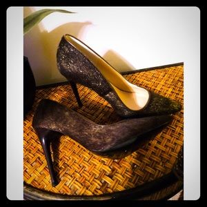 "Donald J Pliner Bronze Calf Suede 4"" Pumps"